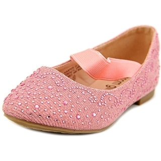Blossom Girl Harper-2 Youth Round Toe Canvas Pink Ballet Flats