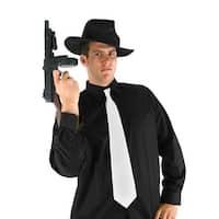 Mobster Black Fedora Adult Costume Hat - Brown