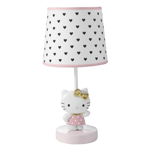 Bedtime Originals Hello Kitty Luv White Pink Nursery Lamp With Shade Bulb