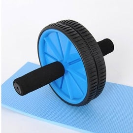 Abdominal Sport Training Wheel Roller BodyBuilding Workout Fitness Exerciser Blue