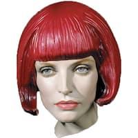 Beepbop Rubber Costume Wig - Black