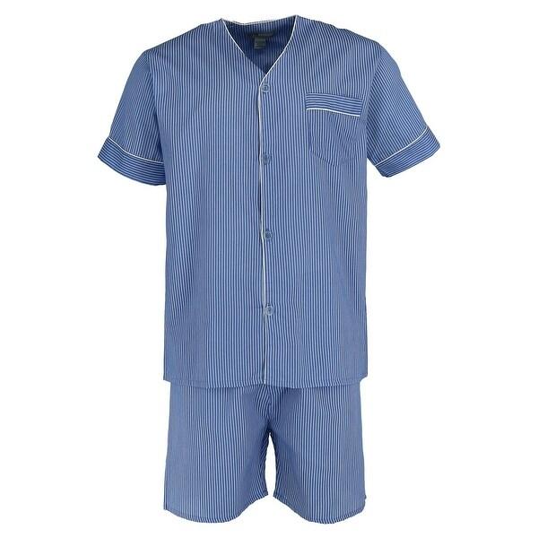 Ten West Apparel Mens Short Sleeve Short Leg Pajama Set
