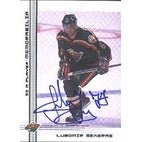 Lubomir Sekeras Minnesota Wild 2000 In The Game Be A Player Autographed Card  Rookie Card  This ite