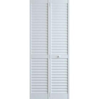 Frameport PLA-BI-NL-8X2-1/2-H Plantation 30 Inch by 96 Inch Louver/Louver Bi-Fol