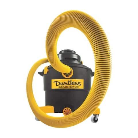 Dustless 16 gal. Corded HEPA Wet/Dry Vacuum 10.6 are 120 volt 5 hp Black 41 lb.