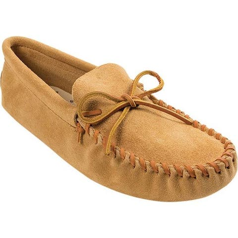 Minnetonka Men's Leather Laced Softsole Tan Suede
