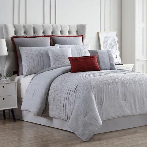 Amrapur Overseas Cleo 8-Piece Embroidered Comforter Set