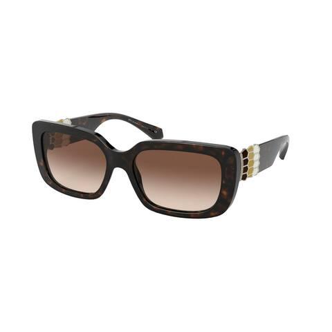 Bvlgari BV8223B 504/13 56 Dark Havana Woman Rectangle Sunglasses