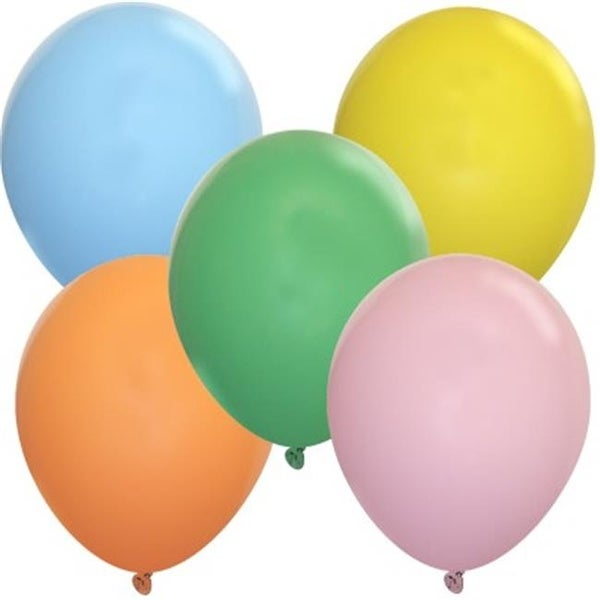 Balloons And Weights 9 Pastel Assorted Color Latex