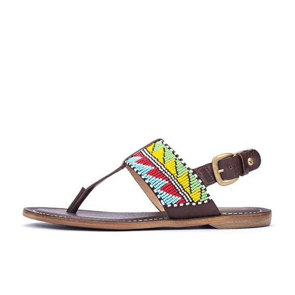 Pikolinos Womens Tembo Leather Split Toe Casual T-Strap Sandals