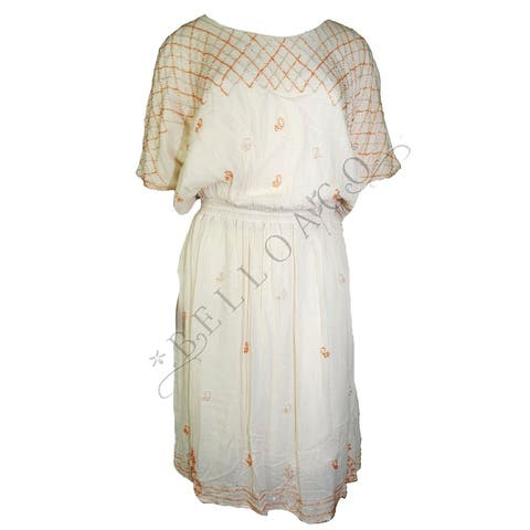 Ooberswank Women's Print Scuba Sheath Dress (L) - Large