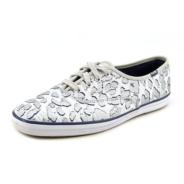 Keds Champion Leopard Women  Round Toe Canvas Silver Sneakers