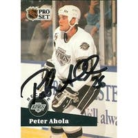 Peter Ahola Autographed Hockey Card Los Angeles Kings 1992 Pro Set