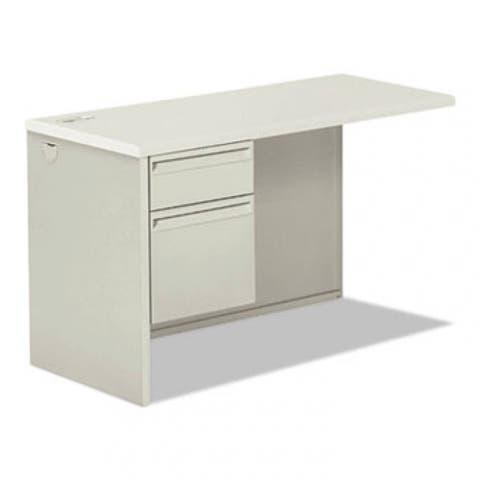 38000 Series Return Pedestal, Box/File, 26.38Wx50.38Dx31.38H, Left, Silver/Lt Gy