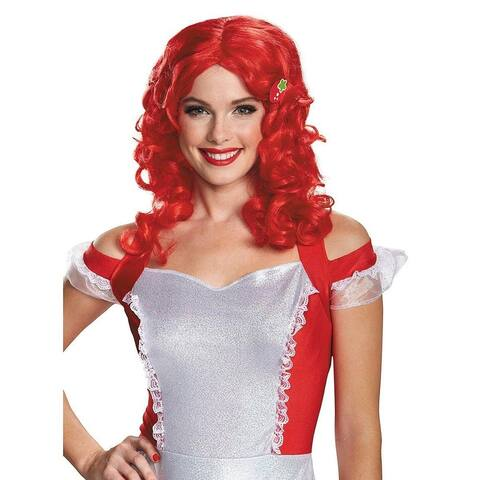 Stawberry Shortcake Deluxe Adult Costume Wig One Size - Red