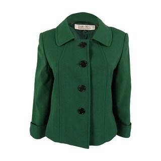 Tahari Women's 3/4 Sleeve Button Down Blazer Jacket - 8