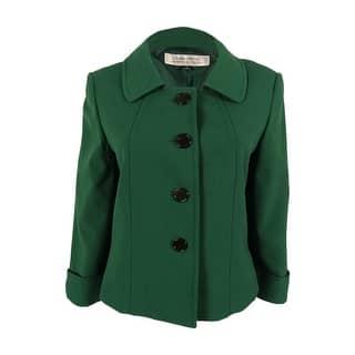 Tahari Women's 3/4 Sleeve Button Down Blazer Jacket|https://ak1.ostkcdn.com/images/products/is/images/direct/2ebd331ad8f1699e82fdf5ea5b12dd651ba68d01/Tahari-Women%27s-3-4-Sleeve-Button-Down-Blazer-Jacket.jpg?impolicy=medium