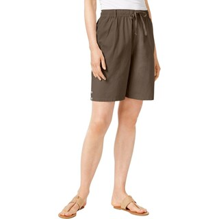 Karen Scott Womens Casual Shorts Bermuda Comfort Waist - XL