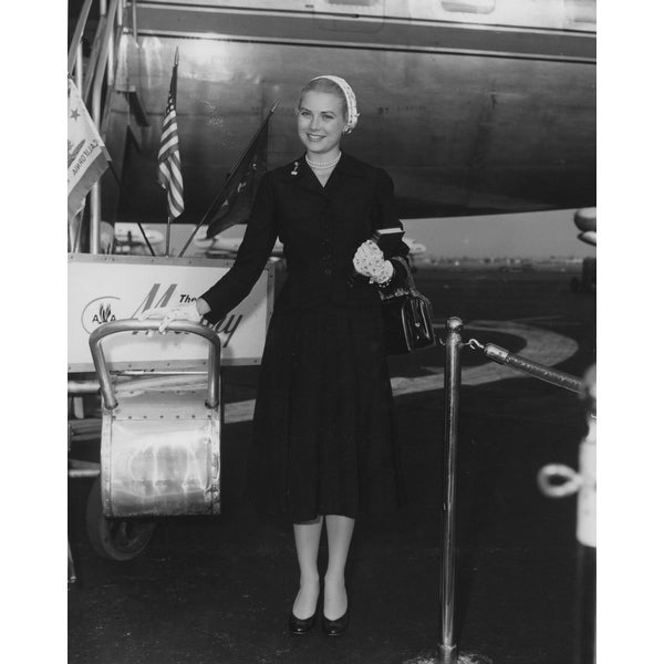 d1503e3161 Grace Kelly at an airport Photo Print