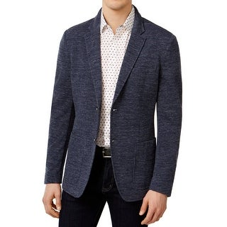 Michael Kors NEW Blue Mens Size XL Space-Dyed Knit Two Button Blazer