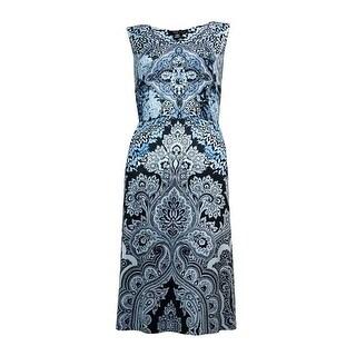 Style & Co. Women's Scoop Neck Embellished Dress - m