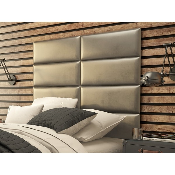 Headboard Wall System : Shop vant upholstered wall panels headboards sets of