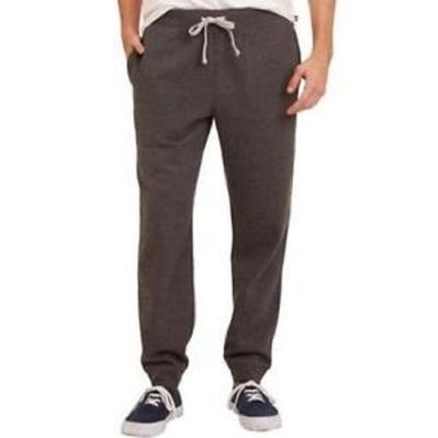 Nautica Men's Drawstring Jogger Fleece Sweatpant Charcoal