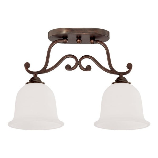 Millennium Lighting 1562 Courtney Lakes 2 Light Semi-Flush Ceiling Fixture