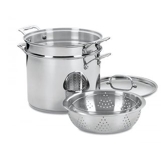 """""""Chefs Classic Stainless 4 Pc Pasta/Steamer Set Chefs Classic Stainless 4 Pc Pasta or Steamer Set"""""""