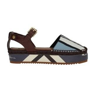 Dolce & Gabbana Dolce & Gabbana Blue Striped Espadrilles Sandals