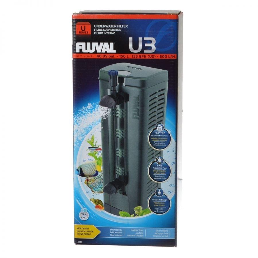 Fluval U-Series Underwater Filter  -  U3 - 155 GPH (7.5 Watts - 24-40 Gallons)