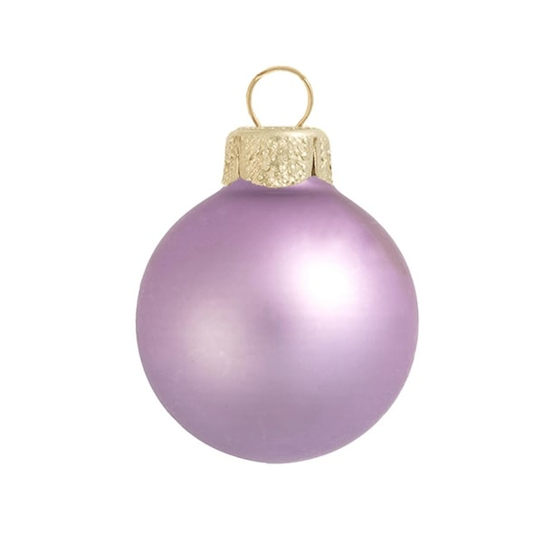 "40ct Matte Soft Lavender Purple Glass Ball Christmas Ornaments 1.5"" (40mm)"