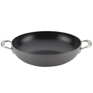 """Link to Anolon Allure Nonstick Wok with Side Handles, 12"""", Drk Gry Similar Items in Cookware"""