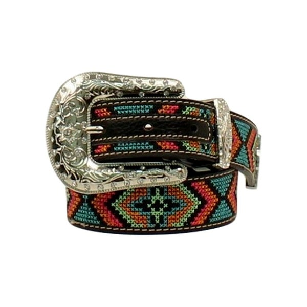 Shop Nocona Western Belt Girls Kids Rhinestones Stitched Multi - Free  Shipping On Orders Over  45 - Overstock - 20100517 e6ad24f9e671