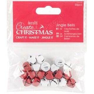 Red & White - Papermania Jingle Bells Matte Finish 20Pcs