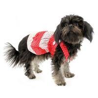 Polka Dot Dog Sundress by Klippo - Red and White - Medium