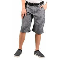 MO7 Men's Woodgrain Belted Casual Short