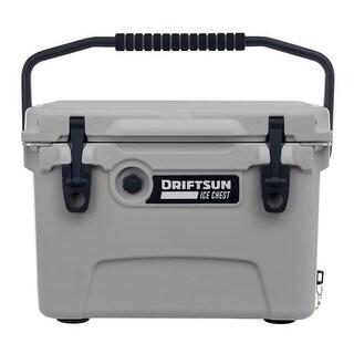 Driftsun 20 Quart Ice Chest / Heavy Duty Cooler / High Performance Commercial Grade Insulation (Grey)