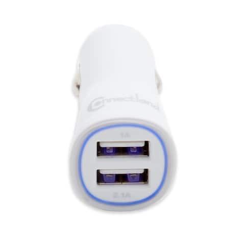 Flush Dual Port 2.1 Amp USB phone tablet car charger