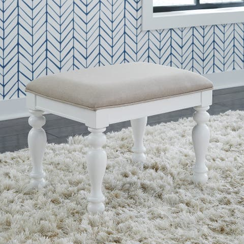 Summer House I Oyster White Vanity Stool