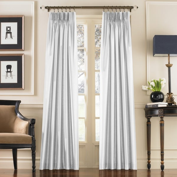 Marquee Faux Silk Pinch Pleat Curtain Panel. Opens flyout.