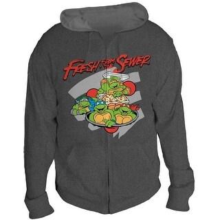 Teenage Mutant Ninja Turtles Fresh from the Sewer Men's Gray Hoodie