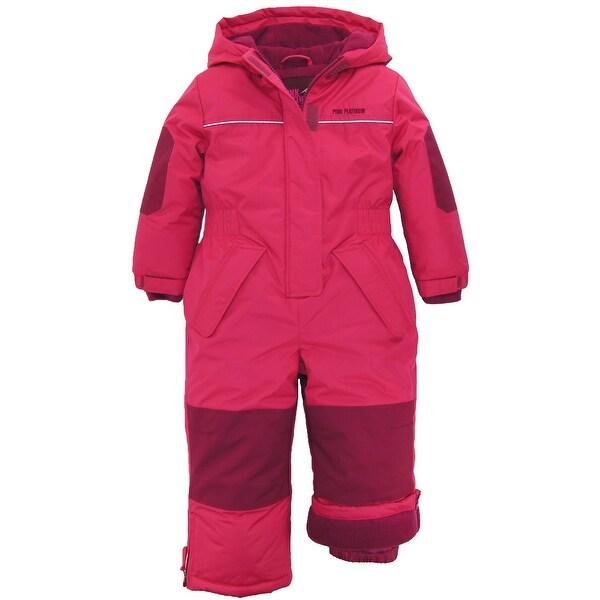 d846f4283fe2 Shop Pink Platinum Toddler Girls Puffer Winter Snowsuit Snowmobile ...