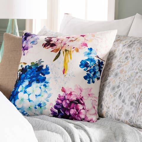 Alys Bright Floral Throw Pillow