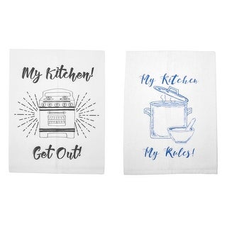 My Kitchen Graphic Printed Cotton Tea Towel or Sets