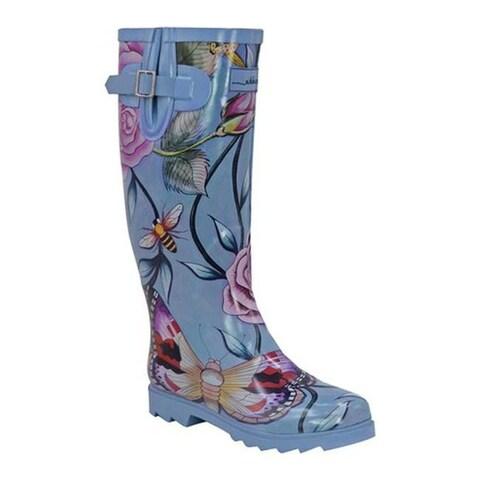 Anuschka Women's Tall Rain Boot Roses D'Amour Printed Rubber