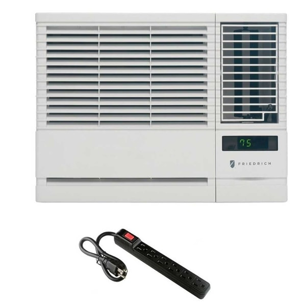 Friedrich Chill Room Air Conditioner w/ 6 Outlet 300J Surge Protector - White
