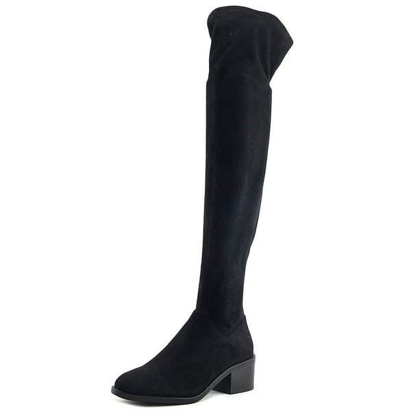 03f9aae0c8d Shop Steve Madden Gabbie Women Round Toe Canvas Black Knee High Boot ...