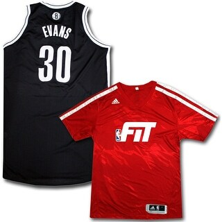 Reggie Evans Uniform Set Brooklyn Nets 20132014 Season Game Used 30 Black and White Jersey and Red