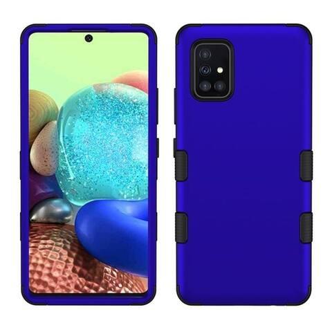 For Samsung Galaxy A71 5G Blue Black Tuff Hard TPU Hybrid Titanium Case
